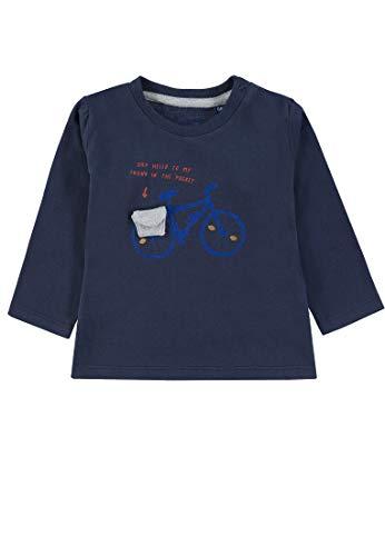 TOM TAILOR Kids T-Shirt Placed Print, Bleu (Navy Blazer|Blue 3105), 74 Bébé garçon