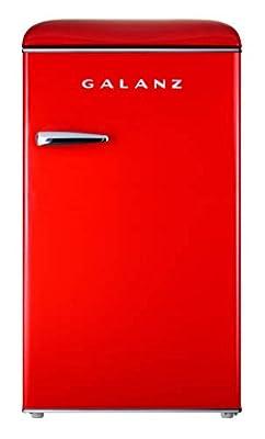 Galanz GLR35RDER Retro Refrigerator, 3.5 Cu Ft, Red