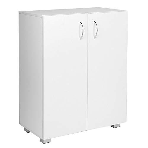 Archivador de material de oficina de armario blanco de doble capa con puertas dobles para oficina en casa