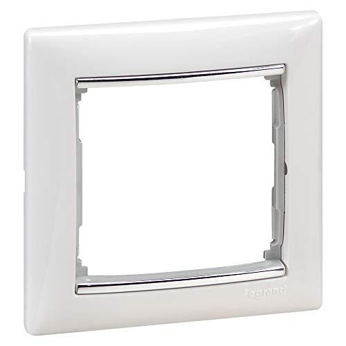 Placa valena, 1 elemento, blanco y plata (Legrand 770491)