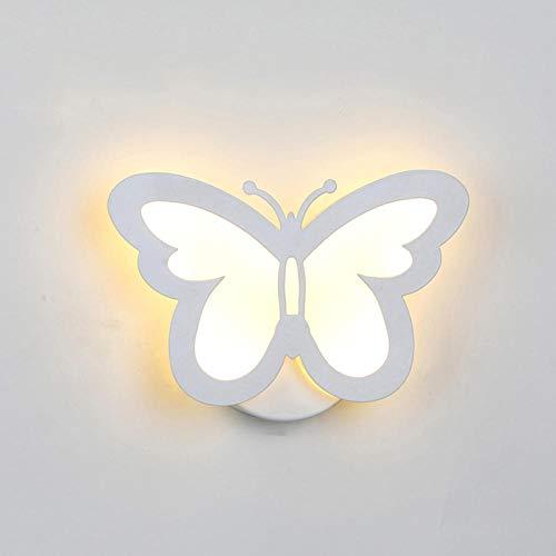 Farfalla Applique a forma di foglia Lampada da parete Farfalla 18W 36 LED Luce Soggiorno Corridoio Lampade da parete comodino Decorazioni per la casa Luci notturne