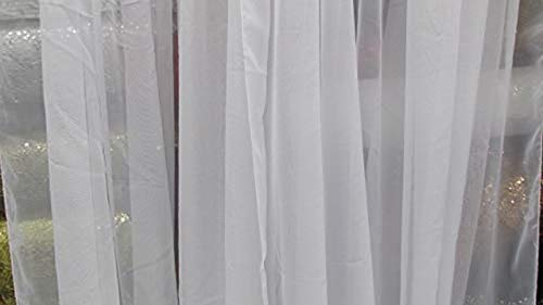Sheer Voile Chiffon Fabric Draping Panels | 10 Yards 120