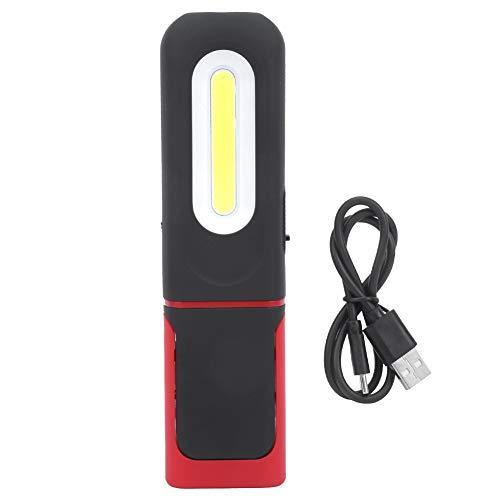 MOH Luz de Trabajo - COB portátil Luz de Trabajo Linterna de Emergencia magnética multifunción Ajustable Carga USB