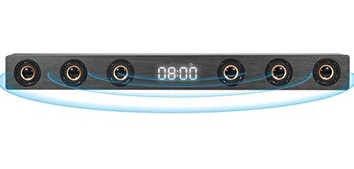 GaoF Barra de Sonido estéreo HI-FI de Madera de 30 W, Altavoz inalámbrico de TV Bluetooth, Compatible con RCA AUX HDMI, para televisión de Cine en casa,