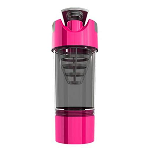 ZBXCVZH Whey Protein Sports Nutrition Blender Mixer Fitness GYM Shaker For Protein Powder Water Bottle (Capacity : 450ml, Color : Pink)