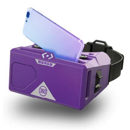 Merge VR/AR–anteojos Virtual y realidad aumentada auriculares para iPhone y Android–botones…