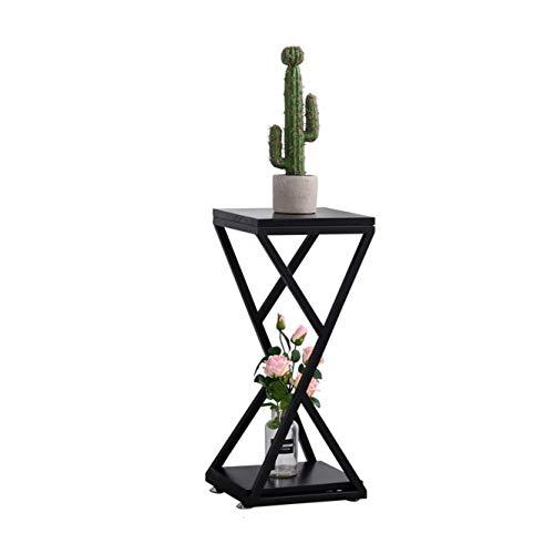 Edge to Porte-Fleurs Étagère à Fleurs en métal Étagère à Fleurs en Bois (Couleur : M:Height 67cm)