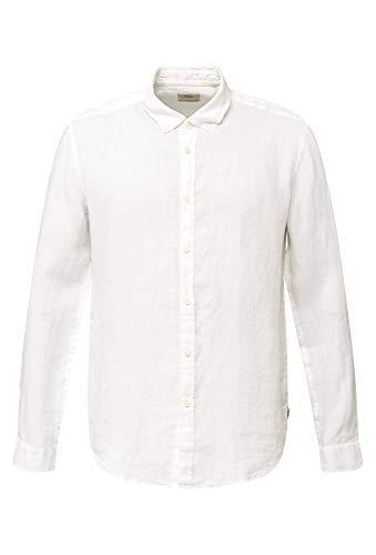 ESPRIT Herren 030EE2F302 Hemd, 100/WHITE, L