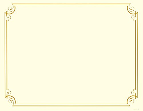 Great Papers! Golden Scroll Gold Foil Certificate, 8.5' x 11', 12 Count (2011859)