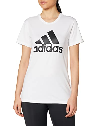 adidas W Bos Co Tee T-Shirt, Donna, White, XS