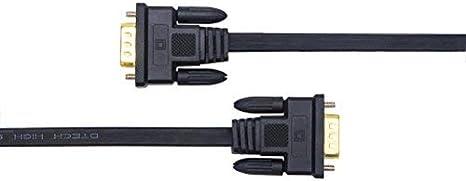 DTECH C/âble VGA ultra fin 1,8 m 15 broches m/âle vers m/âle VGA C/âble Full HD 1080p
