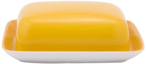 Kahla 202602A72767A Butterdose, eckig Pronto, orange-gelb