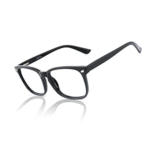 TIJN Blaulichtfilter Brillen Anti blaulicht Damen Herren Brillen ohne sehstärke Computer Brillen Gaming Brillen für PC Handy und Fernseher…