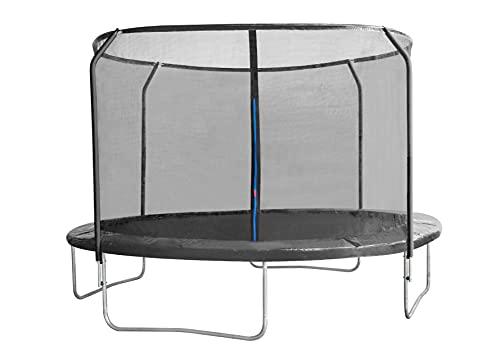 EUGAD Trampolino Elastico da Giardino Esterni Mini Trampolino da Gioco per Bambini con Rete di Sicurezza e Tappeto Elastico 244cm Blu 0004BC