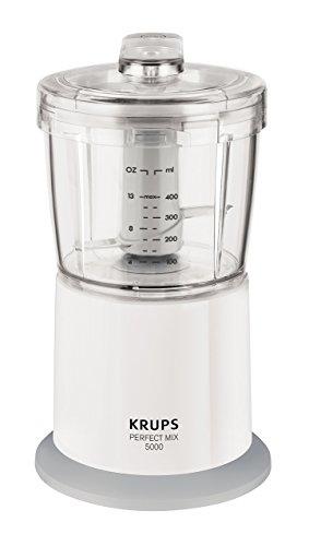 Krups GVA151 Licuadora multifunción, 400 W, acero inoxidable y plástico, color blanco