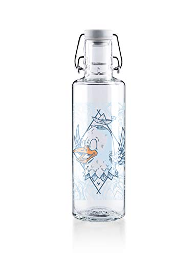 soulbottles 0,6l • Rips auf Reisen • Trinkflasche aus Glas • vegan, plastikfrei, nachhaltig