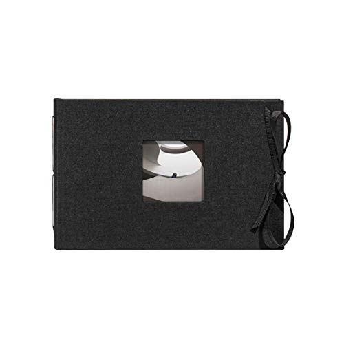 Kolo Noci Small 4x6 Photo Album, Holds 24 Photos, Ideal for Weddings and Baby Books, Black