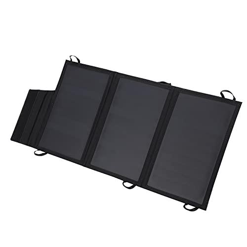 Cargador De Panel Solar Plegable, Cargador Solar Salida USB Dual Regulador De Voltaje De Salida Integrado Para Altavoces Para Teléfonos