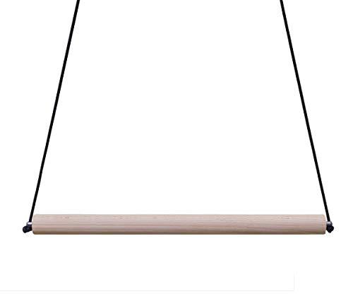 EdelKRAFT® Freihängende Klimmzugstange Hartholz 60cm lang mit Aufhängeschnur