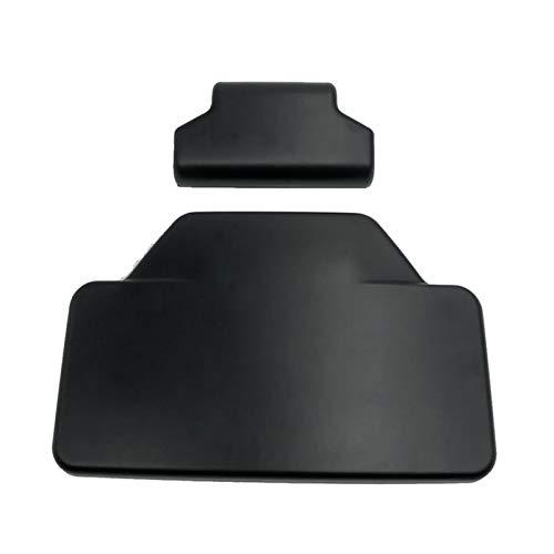 ZRNG Ajuste para BMW R1200GS R1250GS F750GS F850GS F800GS ADV R 1200 GS LC Aventura Pasajero Respaldo Back Pad Trastro Saddlebag Trunk Etiqueta engomada (Color : Black)