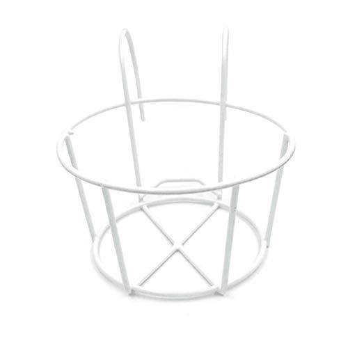 Cabilock Blumentopf Aufhänger Rack Ring Metall Rund Wandregal Eisen Pflanzenhalterung zum Aufhängen Wand Blumenregal für Haus Hof Balkon Wanddeko Gartendeko Weiß S