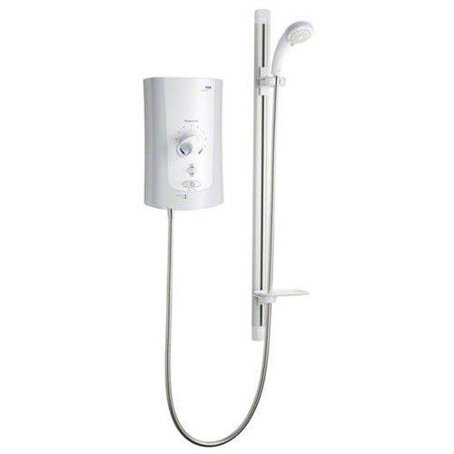 Mira 1.1759.003 White / Chrome Advance Flex 9.0 kW Electric Shower for