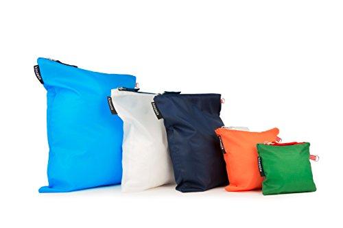 kiezels - organizer per valigia o zaino - 4 diverse misure - 5 colore