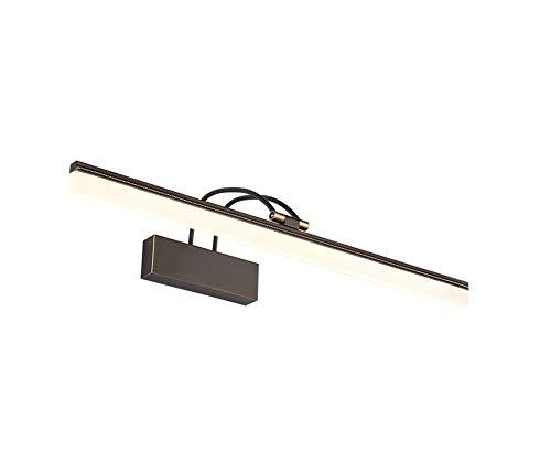 Hai Ying ♪ Amerikaanse LED-koplampen voor de badkamer, compleet bronskleur, spiegellamp, kastlicht, wandlamp, slaapkamer, badkamer, retro make-up, lamp neutraal licht (kleur: zwart, maat: lengte 39 cm) ♪
