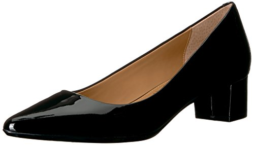 Calvin Klein Women's Genoveva Dress Pump, Black Patent, 9.5 M US