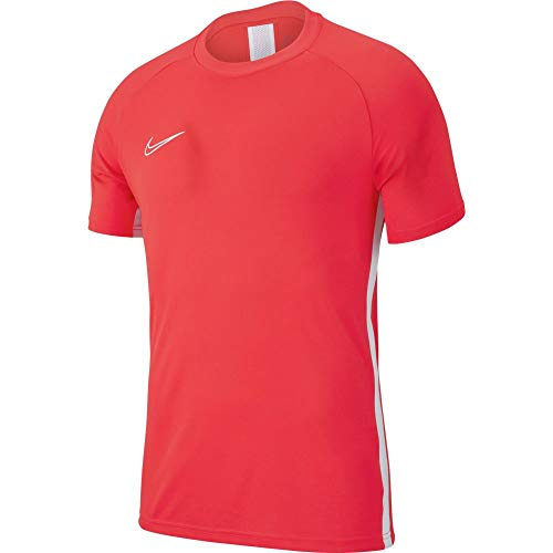 Nike M NK DRY ACDMY19 TOP SS T-shirt Homme Bright Crimson/White FR : L (Taille Fabricant : L)