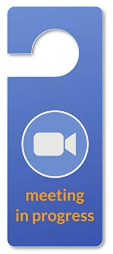 Arisen Meditation Zoom Door Sign   Do Not Disturb Door Signs Meeting in Progress   for Zoom, MS Teams, GoToMeeting, Video Conference, Webinar