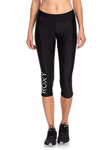 Roxy Brave for You-Legging Court pour Femme Pantacourt de Sport, Fitness, Yoga, Course,Running, True Black, FR (Taille Fabricant : XS)