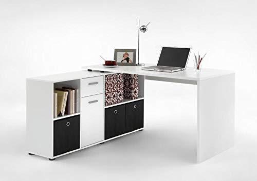 RASANTI LEX 1 Schreibtisch Winkelkombi von FMD Weiß