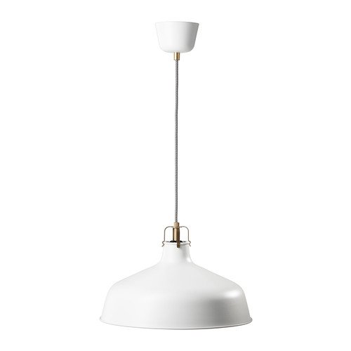 Ikea RANARP - lámpara Colgante, de Color Blanquecino - 38 cm