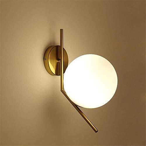 Wandlamp voor slaapkamer, nachtkastje balkon Corridoio Corridoio creatieve slaaplamp wandlamp goedkoop design glas + metaal