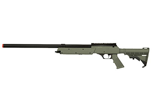 Well APS MB06 SR-2 Spring Bolt Action Airsoft Sniper Rifle (OD) – Single-Shot Airsoft Gun with Picatinny Weaver Rail