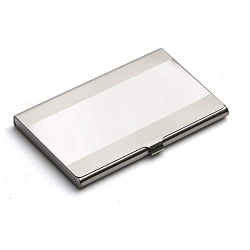 Buwei Pocket Stainless Steel & Metal Business Card Holder Case ID Credit Wallet Silver