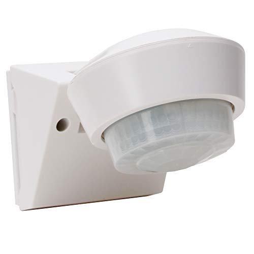 Kopp Infracontrol Bewegungsmelder I 240 Grad Außenleuchte mit Bewegungs-Melder I IP55 Außen-Beleuchtung als Einbruchschutz I Infrarot Präsenzmelder Aufputz für Außen und Innen I Weiß - 824602019