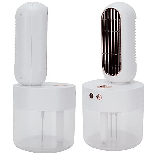 Meiyya Mini Ventilador, Ventilador humidificador Batería de Larga duración Que se agita automáticamente a 90 Grados para Cocina casera, Dormitorio, Exterior