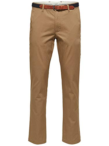 SELECTED HOMME Male Chino SLHYARD Slim FIT - 3332Dark Camel