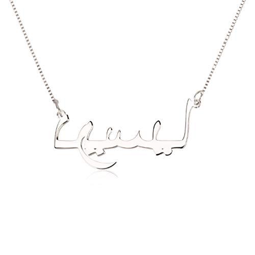 zhaolian888 árabe Nombre Collar Personalizado de Joyería para Mujer, Personalizado con Cualquier Letra