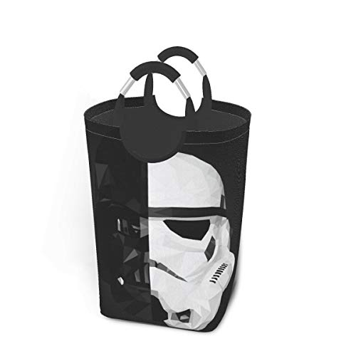 Meng Beast Darth Vader Stormtrooper Star War Laundry Basket Hamper Bag Dirty Clothes Storage Waterproof Foldable 50 Liter for Bathroom Bedroom Closet Toy Collection Storage Organizer