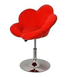 1x Barhocker rote Blume Design Lounge Sessel Barsessel Clubsessel Cocktailsessel Drehsessel D0