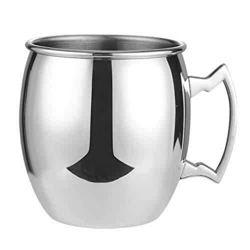iFCOW Taza de cobre de 18 onzas de la galjanoplastia del vino de la taza del vaso del vino del cóctel de la taza de Moscú Mule