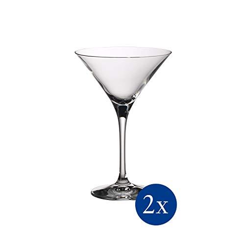 Villeroy & Boch Purismo Bar Cocktail-/Martiniglas 2er-Set, Kristallglas, durchsichtig, 175mm, 2