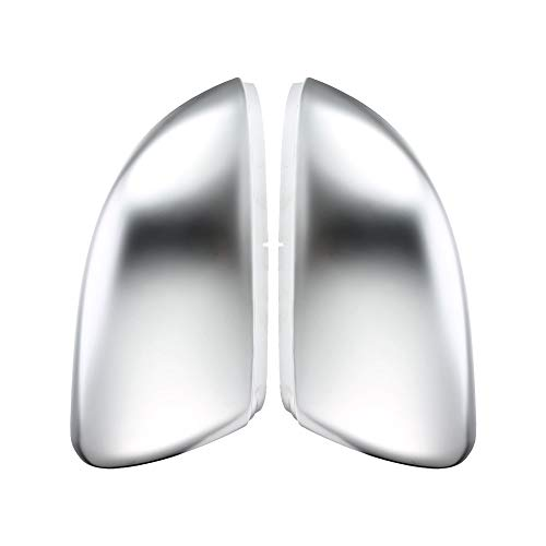 lilili Scheinwerfer Glasabdeckung 2 Stück Fit for VW Golf 6 R20 Touran Golf GTI 6 Golf 6 R Seitenflügel Spiegel-Abdeckung Mattchrom Rearviewspiegelabdeckung