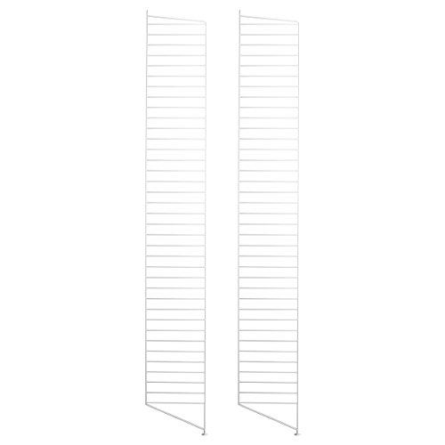 String System Bodenleiter 200x30cm, weiß lackiert 200x30cm 2er Set