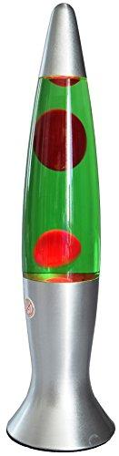 Lavalampe Dekoleuchte 40cm 150cm Kabel mit Schalter 230V inkl. Leuchtmittel Stimmungslicht Silber Rot Grün