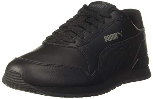 PUMA ST Runner v2 L Jr, Sneaker, Nero Black-Dark Shadow, 36 EU