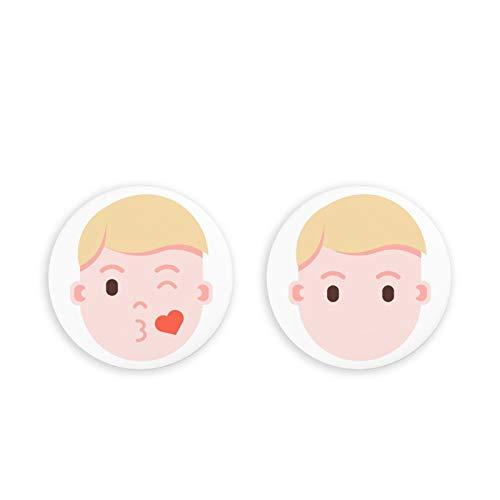 To Do List - Imanes magnéticos para Nevera, Emoji Humano, Paquete de 2 imanes para Nevera, imanes de Oficina, Juego de 2